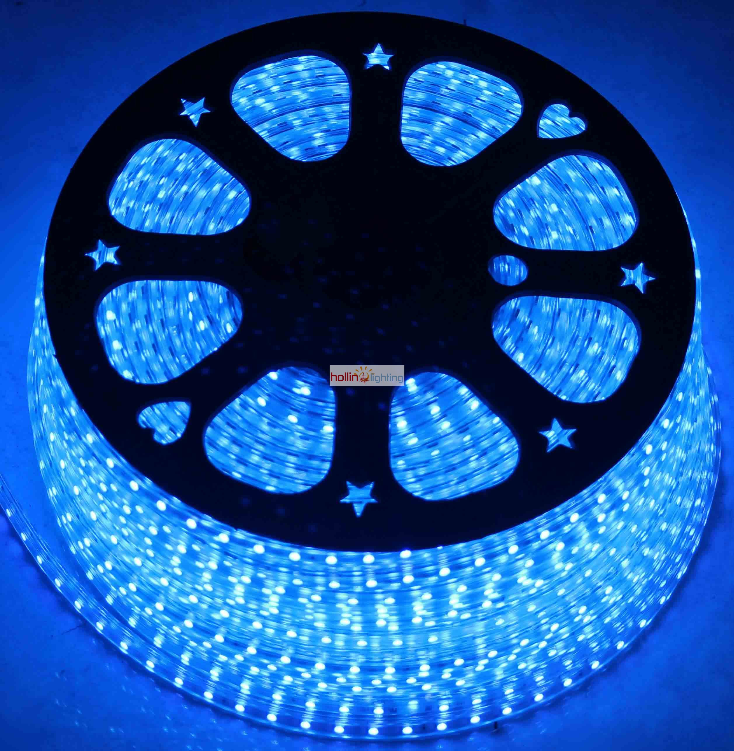 2 wire led rope light flat in blue color hl lr 2f 03 hollinlighting aloadofball Gallery