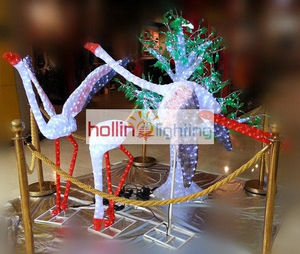 3d led motif light decorative animal series crane hl m 087. Black Bedroom Furniture Sets. Home Design Ideas