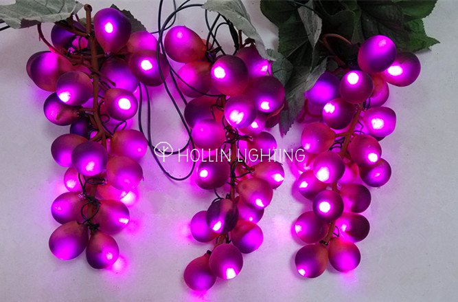 hot selling 5m to 25m length led grape string lights with vines hl lsl 058 hollinlighting